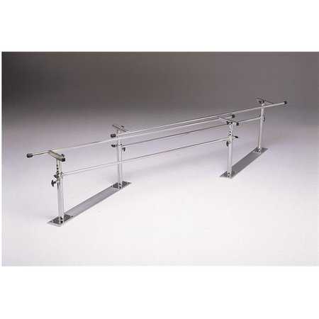 10 ft. x 16-24 x 22-36 in. Height & Width Adjustable Steel Base Folding Parallel -
