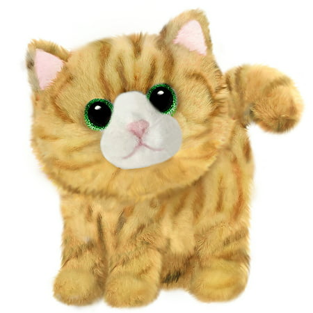 First and Main - Fluffles Yellow Striped Kitten Plush, 7 Inches Sitting