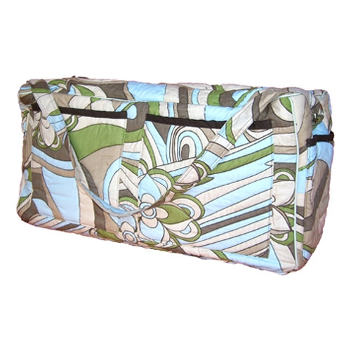 Bacati Retro Flowers Quilted Diaper Bag