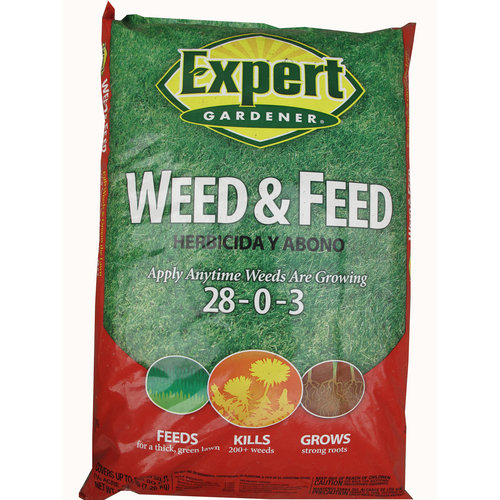 Expert Gardener 15,000 sq ft Weed & Feed Lawn Fertilizer for Northern Lawns (28-0-3), 48 lbs