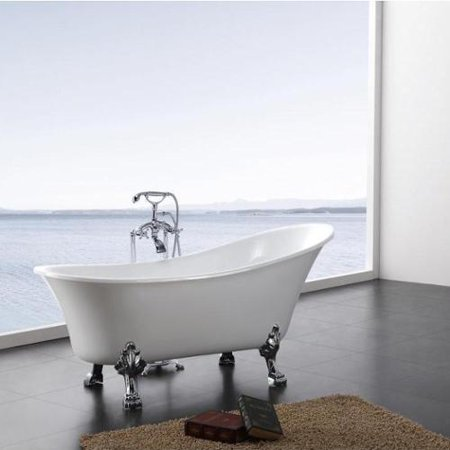 A&E Bath and Shower Dorya Pure Acrylic 69-Inch All-in-One Clawfoot ...