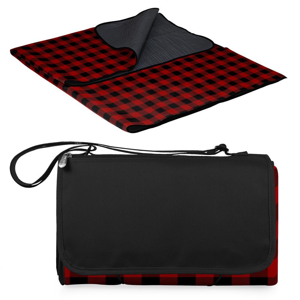 Blanket Tote XL Outdoor Picnic Blanket, (Red & Black ...