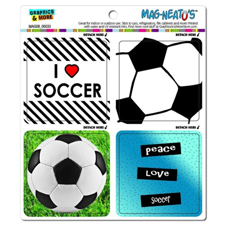Soccer Player Fan Love - Football MAG-NEATO'S(TM) Car/Refrigerator Magnet Set](Football Player Cutouts)