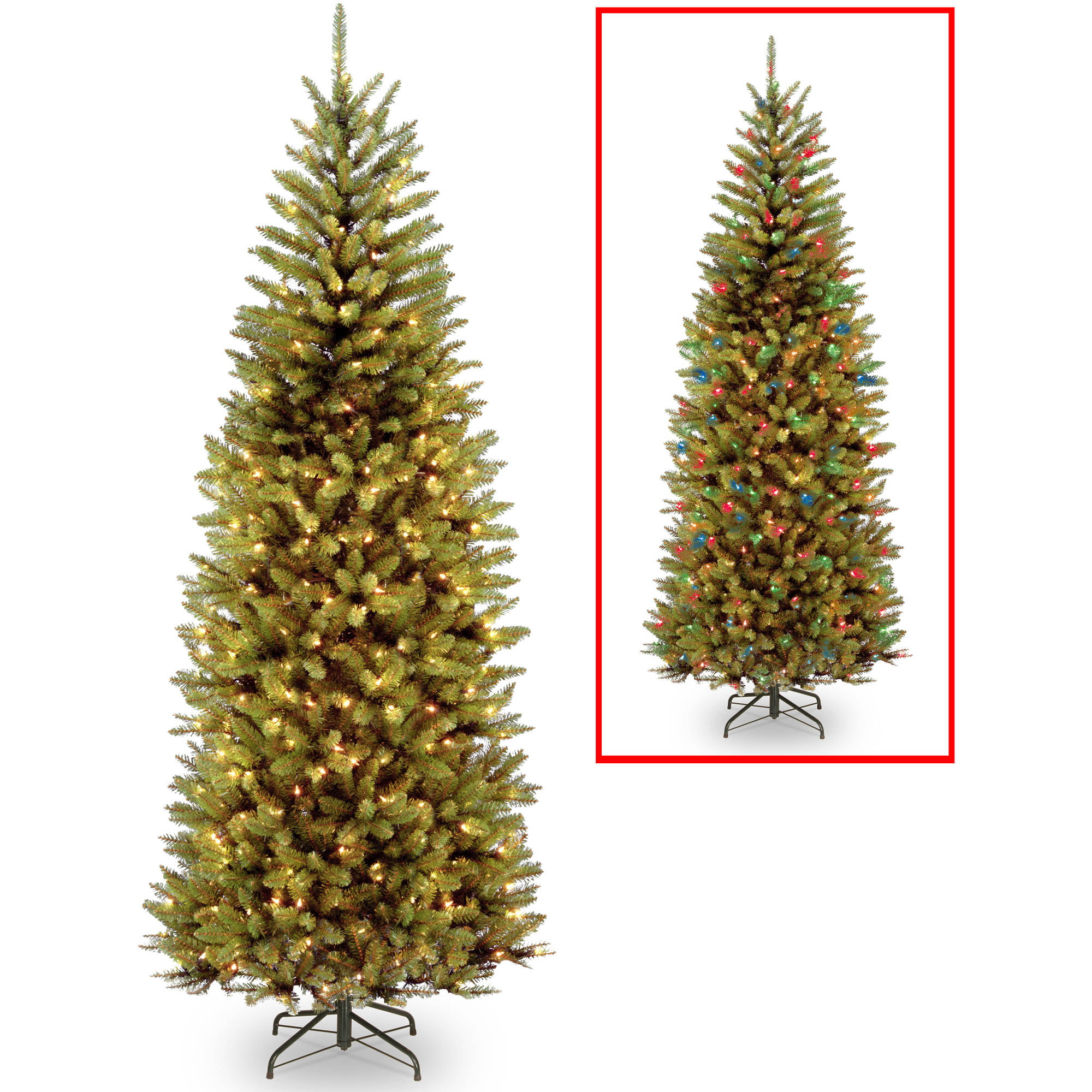 holiday time pre lit 4 teal blue artificial christmas tree clear lights walmartcom - Christmas Trees With Lights