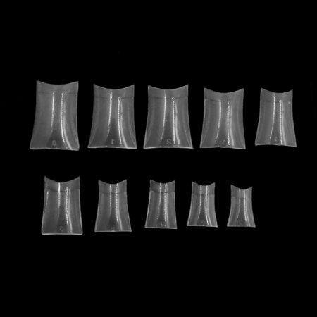 500pcs Clear Plastic French Style Half Cover False Nail Tips Manicure Beauty Tool - image 2 of 3