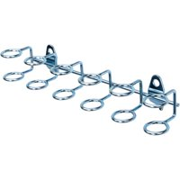 "DuraHook 9""W with 3/4""ID Zinc Plated Steel Multi-Ring Tool Holder for DuraBoard or 1/8"" and 1/4"" Pegboard, 2pk"