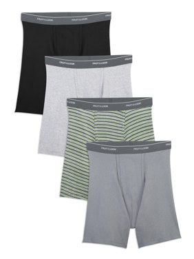 Fruit of the Loom Men's Support Pouch Assorted Boxer Briefs, 4 Pack, 2XL
