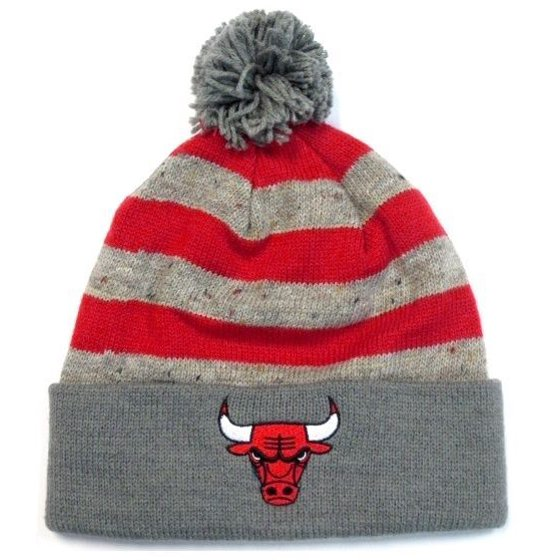 0b0bbf695d3 Chicago Bulls NBA Mitchell   Ness Speckled Oatmeal Pom Knit Hat Cap Beanie  - Walmart.com