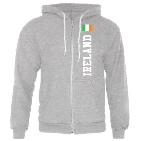 St Patricks Day Ireland Flag World Cup Mens Full Zip Hoodie ()