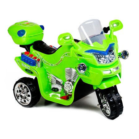 Ride on Toy, 3 Wheel Motorcycle for Kids, Battery Powered Ride On Toy by Lilâ Rider â Ride on Toys for Boys and Girls, 2 - 5 Year Old - Green FX