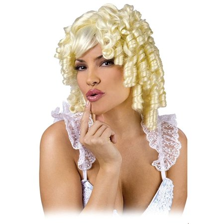 Curly Locks Blonde Costume Wig