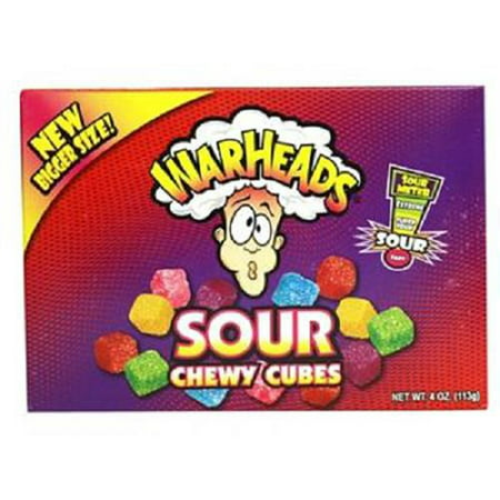 Product Of Warheads, Sour Chewy Cubes, Ct 1 (4 Oz) - Sugar Candy / Grab Varieties & Flavors