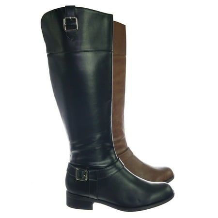 Carpet by Soda, Womens Fashion Riding Boot w Harness and Block Heel, Equestrian Inspired