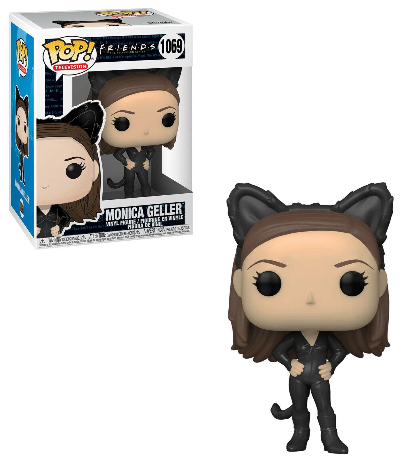 Bundled with EcoTek Protector to Protect Display Box Friends Vinyl Figure Monica Geller as Catwoman Pop #1069 Pop TV