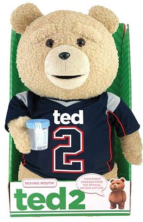 """Ted 2 Movie Ted in Jersey Rated R 24/"""" Talking Plush"""