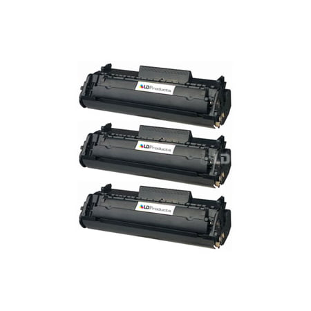 LD Products Remanufactured Canon 104 (0263B001A) Set of 3 Black Laser Toner (Iii Remanufactured Laser)