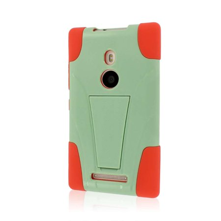 MPERO IMPACT X Series Kickstand Case for Nokia Lumia 925 - Coral /