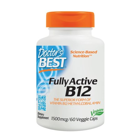 (2 pack) Doctor's Best B12 Veggie Caps, 1500mcg, 60