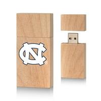 North Carolina Tar Heels Insignia 16gb Wood Block USB Drive