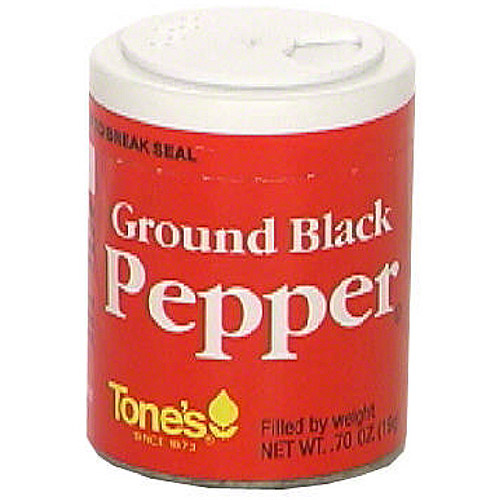 Tone's Ground Black Pepper, 0.70 oz (Pack of 6)