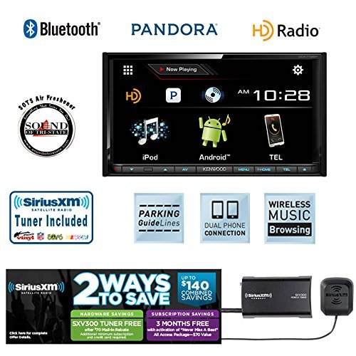 "Kenwood DDX773BH 6.95"" DVD Receiver with Built in Bluetooth, HD Radio, Packaged with SiriusXM Tuner and Antenna... by Kenwood"
