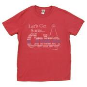 Coca Cola Let's Get Some Coke Vintage Style Junk Food Adult T-Shirt Tee