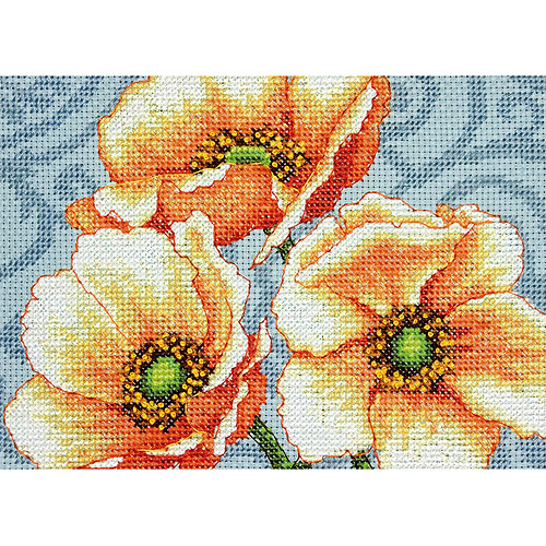 "Windflowers Mini-Counted Cross Stitch Kit, 7"" x 5"" 14-Count"