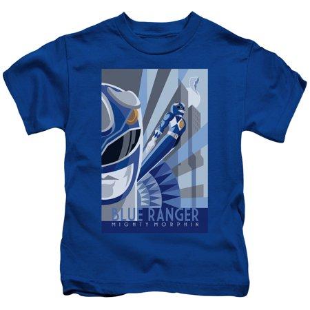 Power Rangers/Blue Ranger Deco S/S Juvenile 18/1 Royal Blue Pwr128