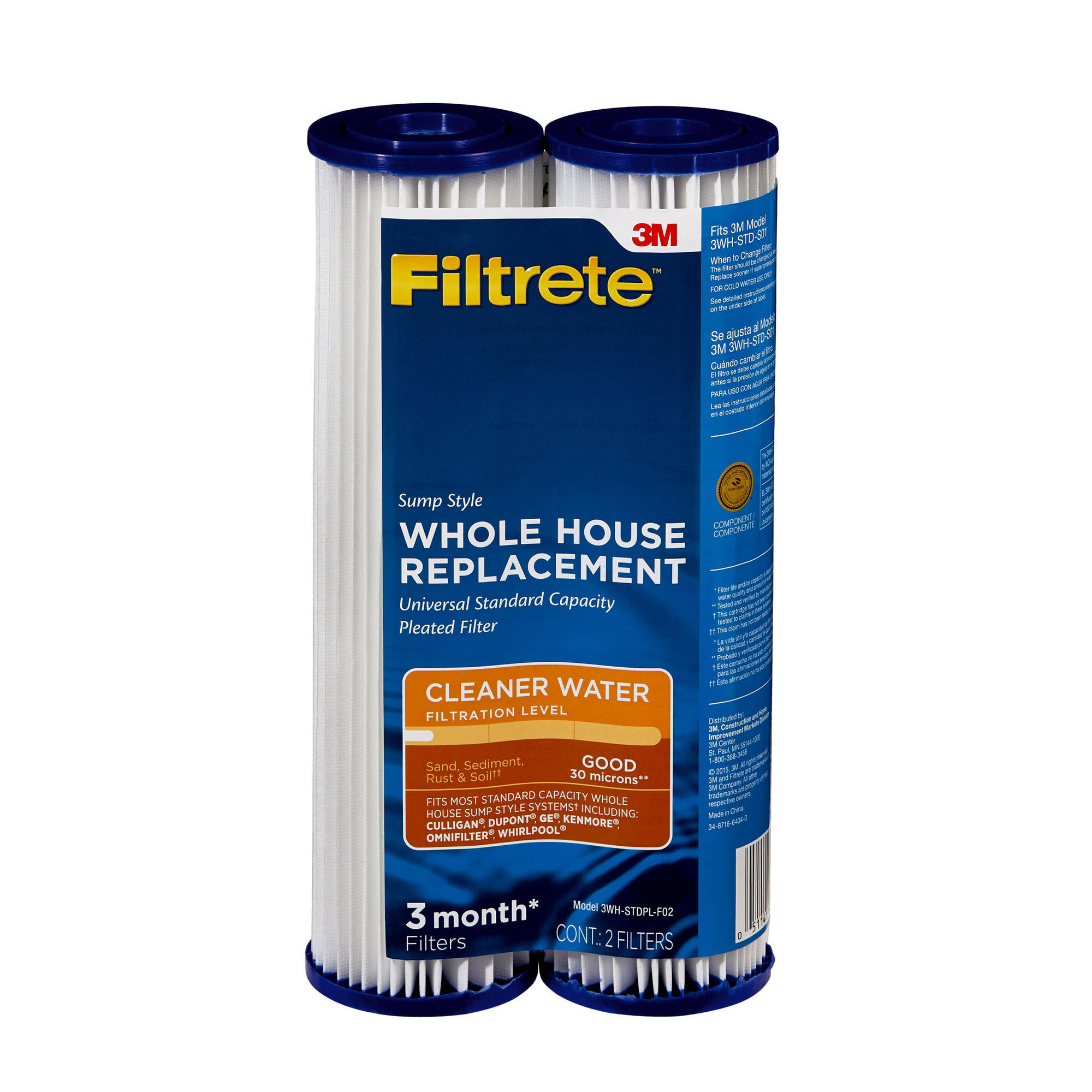 3M Filtrete Pleat-Poly Drop-in Filter, 2pk