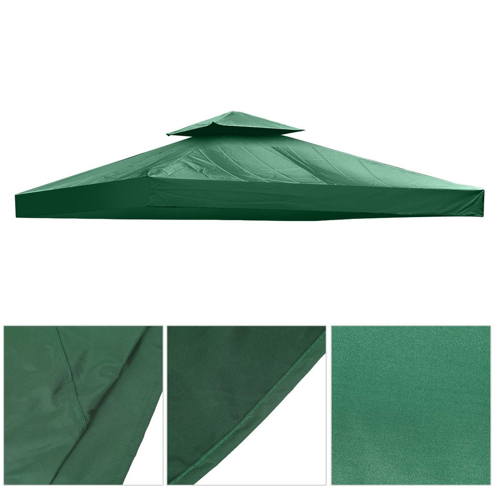 10*10 Feet Gazebo Top Tent Cover Patio Canopy Roof Double-layer Against UV,Green