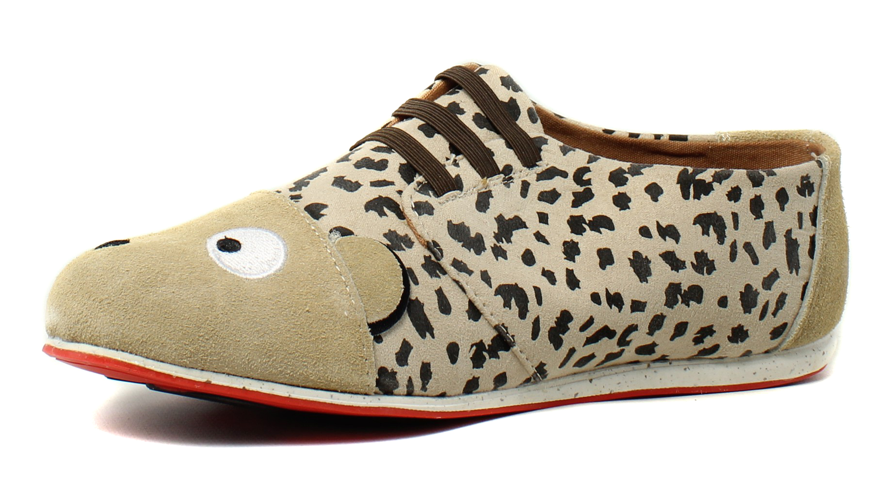 New Emu Womens Cheetah Caramel Fashion Shoes Size 4
