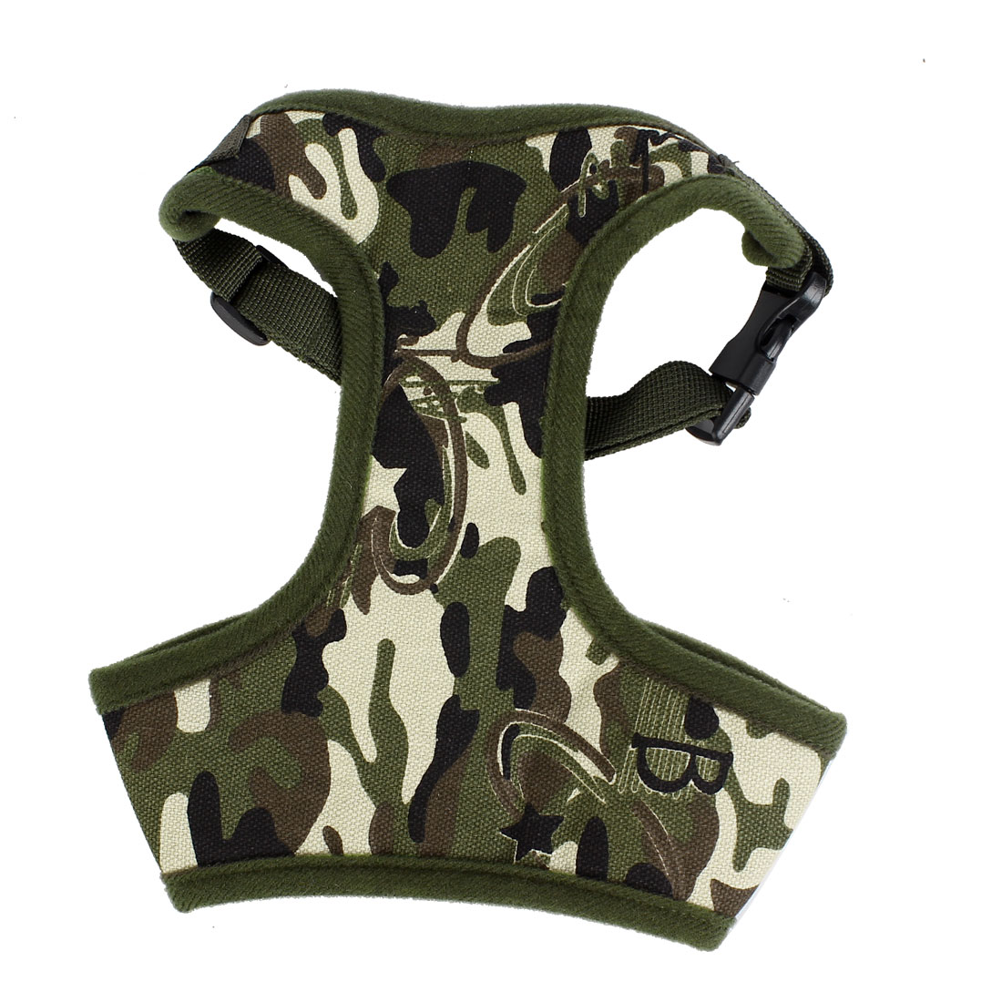 Pet Dog Puppy Walking Camouflage Printed Harness Vest Army Green M