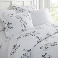 Merit Linens Premium Ultra Soft 3 Piece Simple Vine Print Duvet Cover Set