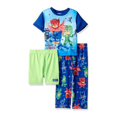 Disney PJ Masks Toddler Boys 3 piece Pajama Set 21PJ022EZS - Disney Jammies