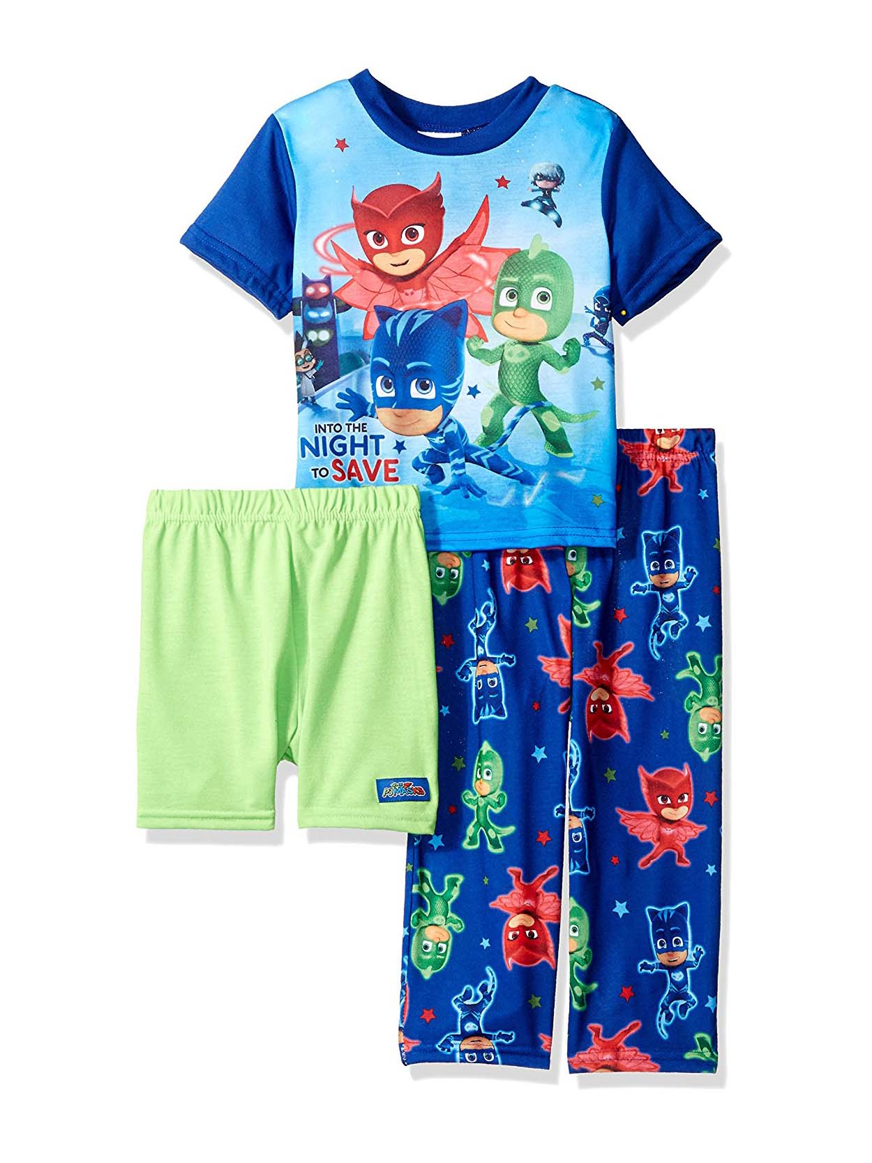 Disney PJ Masks Toddler Boys 3 piece Pajama Set 21PJ022EZS