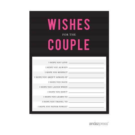 Newlywed Advice Cards  Modern Black and White Stripes Wedding Cards Guest Book Alternative, 20-Pack
