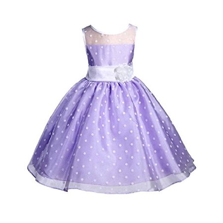 Polka Dot Wedding Dress - Ekidsbridal Multi-Color Polka Dot Organza Flower Girl Dresses Junior Toddler Pageant Wedding Formal Special Occasions Dresses Colorful Birthday Girl Party Dance Ball Gown Recital Reception 1509