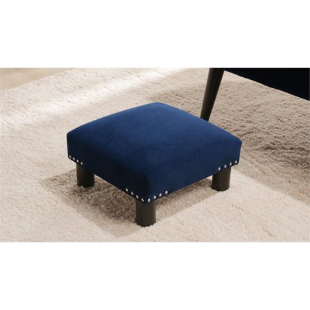Jules Square Accent Footstool Ottoman Navy Blue - image 7 of 9