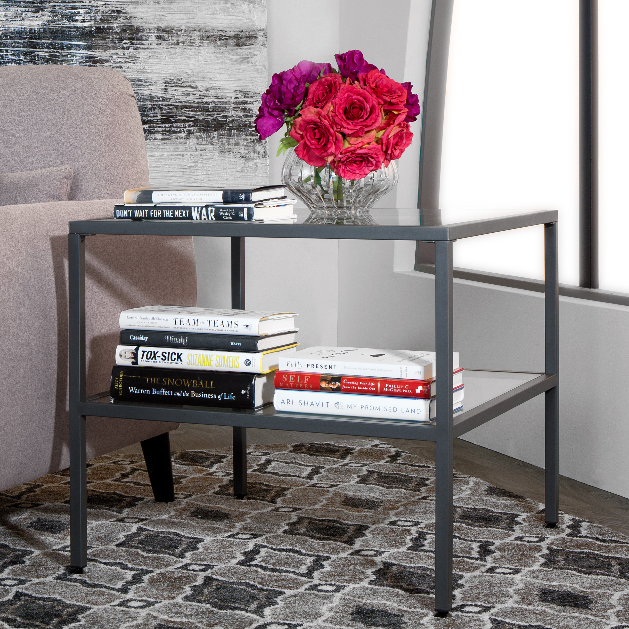Studio Designs Home Camber End Table, Pewter