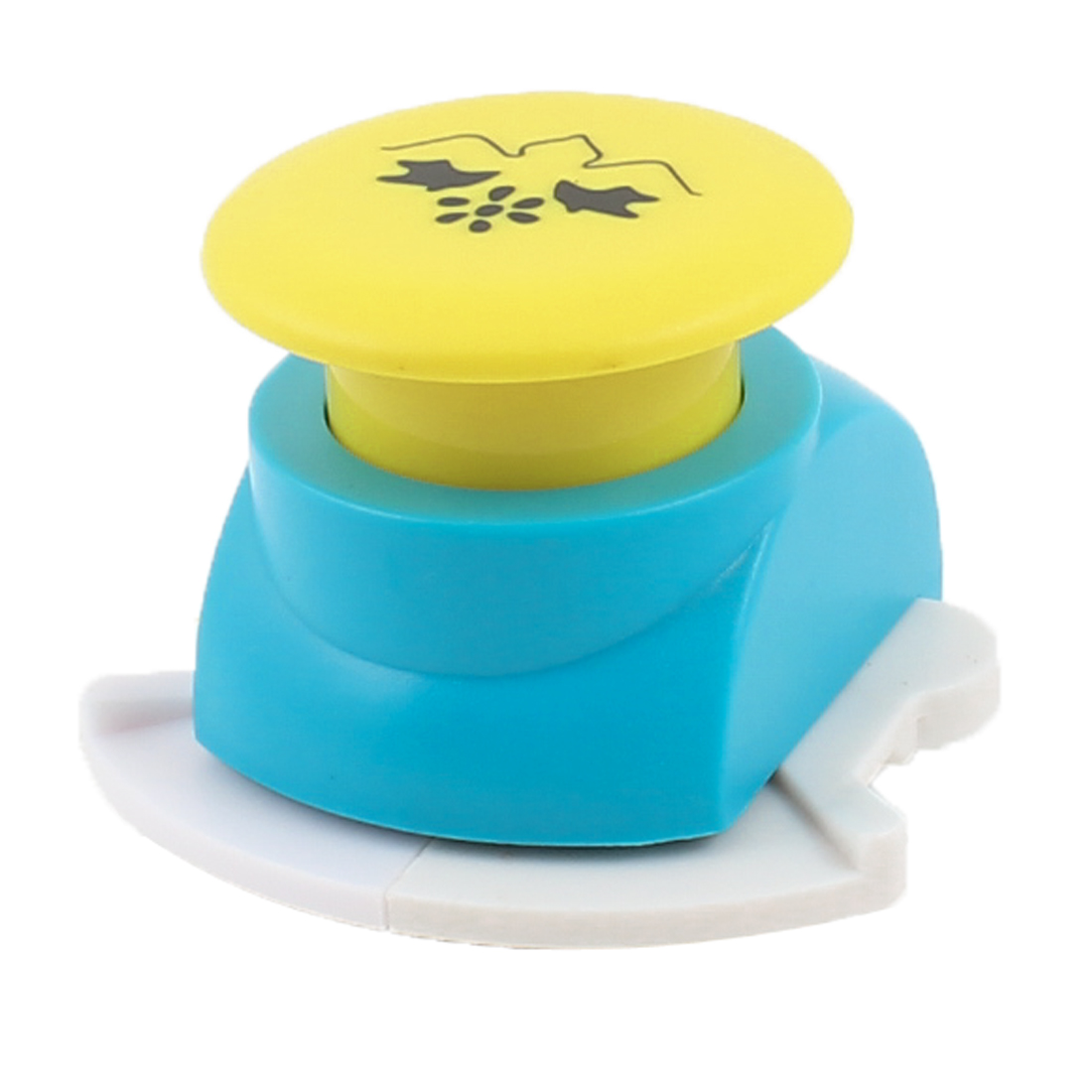 Hand Tool Swallow Print Teal Blue Yellow Cutout Paper Card Making Craft Punch