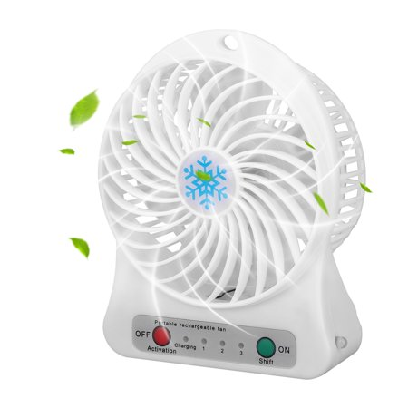 Baby Fans Coupon Code (EEEKit Portable Mini Desk Fan,Rechargeable LED Light Fan Air Cooler,3 Adjustable Spped, Personal Fan,Electric Desktop Air Fan,Cooling USB Rechargeable for Home Office Car baby Stroller)