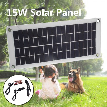 12V/5V 15W 20W 40W Flexible Semi Solar Panel Portable Controller Controlle Polysilicon Off Grid Kit Waterproof For Car Battery Phone RV (Automatic Top Off System Water Level Controller)