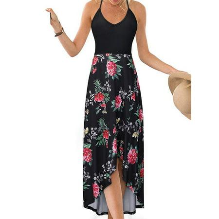 Elegant Sexy Dresses - UKAP Womens Long Dress Beach Casual Holiday Party Sexy Sundress Summer Elegant Maxi Dresses