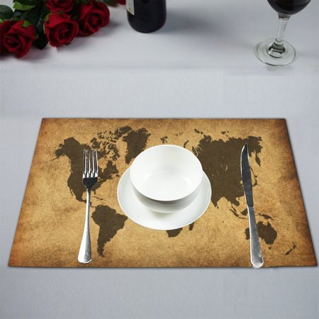 MYPOP Retro Style World Map Table Placemat Food Mat 12x18 Inches Non Slip Table (Ford Retro)