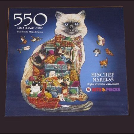 Bits & Pieces 550 Piece Shaped Puzzle - Mischief Makers - Original Artwork By Lewis Johnson Featuring a Puzzle Shaped Like .., By Bits and Pieces Ship from US