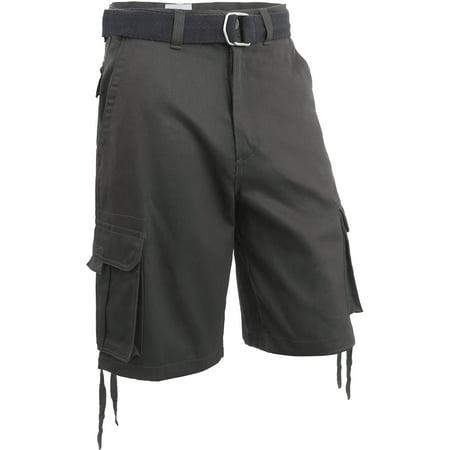 Men's Loose Fit Twill Multi Pocket Cargo Shorts with (Cargo Flap Pocket Shorts)
