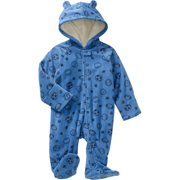 Newborn Baby Boy Fleece Eared Pram