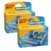 2 X Kodak Water & Sport Waterproof [50/15 M] 35mm One-time-use Disposable Camera [iso-800] (8004707k)