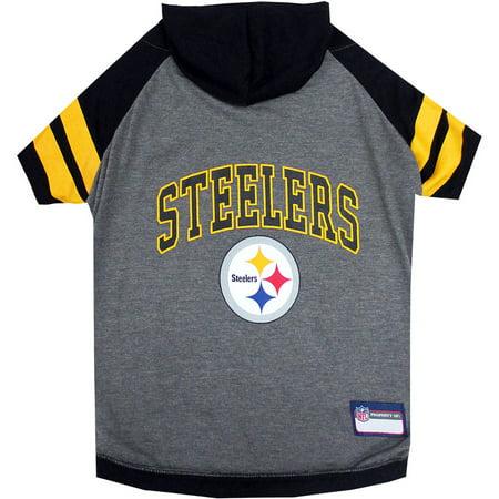 96b1ca579d7 Pets First NFL Pittsburgh Steelers Pet Hoodie Tee Shirt - Walmart.com