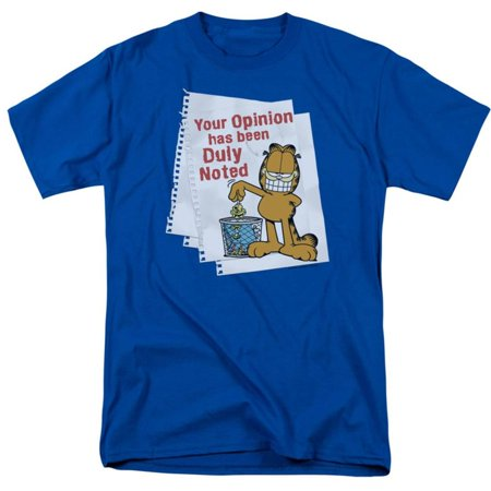 Clothing Garb - Garfield - Duly Noted Apparel T-Shirt - Blue